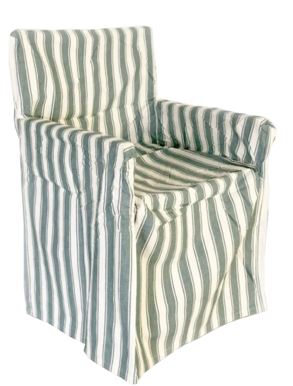 Director's Chair Cover - Green and White