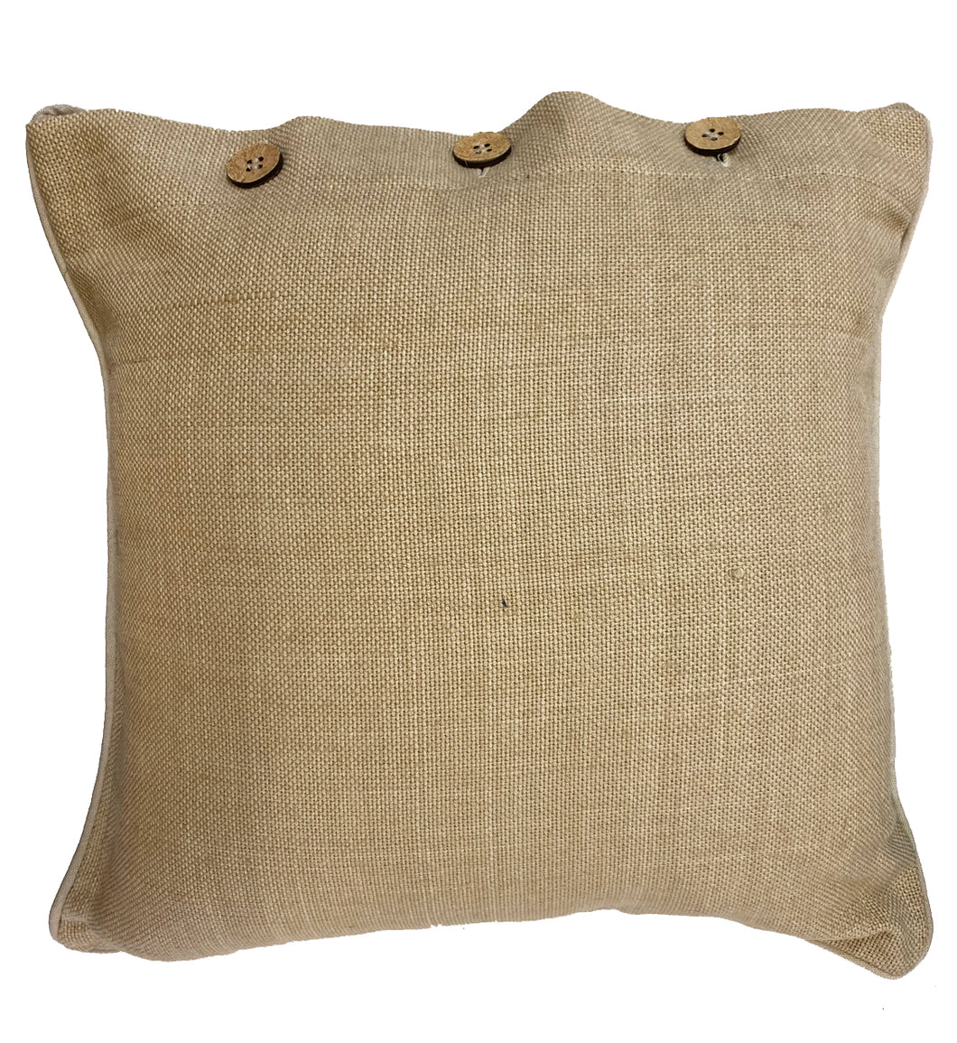 Jute Natural Cushion Cover