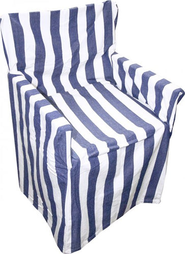 Director's Chair Cover - Kerala Blue and White