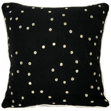 Mirror Black Cotton Cushion Cover