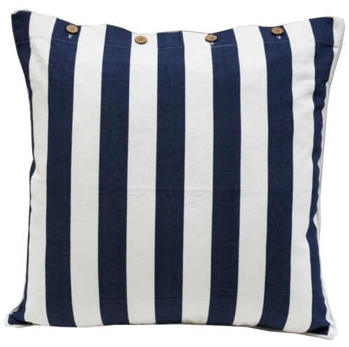 Mode Navy Stripe Cotton Cushion Cover