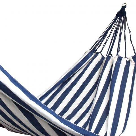 Navy and White Striped Hammock