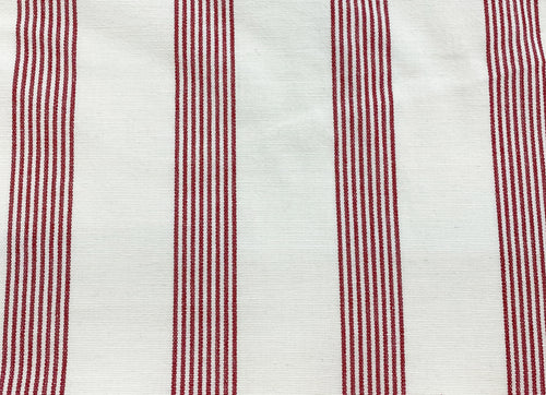 Multi Stripe Fabric- Reddy Red