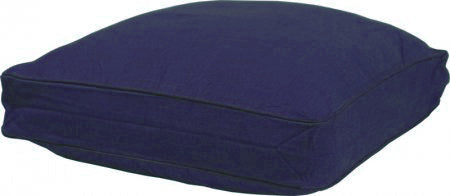 Navy Boxed Floor Cushion Cover