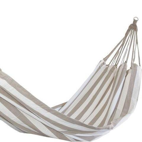 Beige and White Striped Hammock