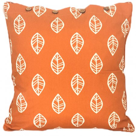 Leaf Burnt Orange Cushion Cover