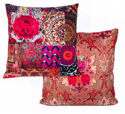 Anna Chandler Pink Embroidery Out-door Cushion