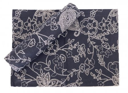 Paisley Navy Stain Proof Table Runner
