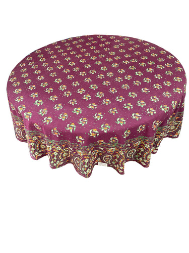 Block Print Round Tablecloth