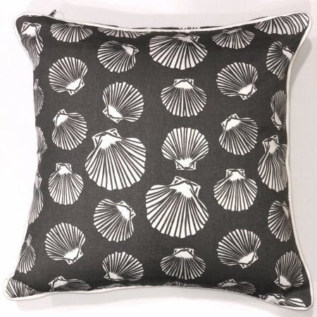 Shell Grey Cotton Cushion Cover