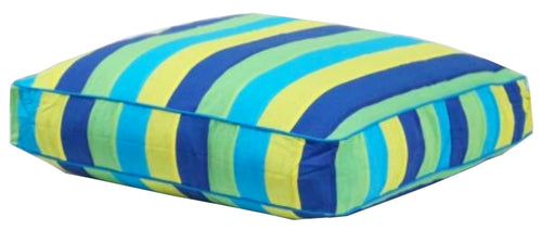 Aquarius Turquoise Boxed Floor Cushion Cover