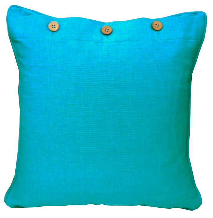 Turquoise Cotton Cushion Cover