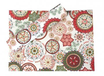 Red Wildflower Stain Proof Placemat