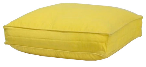 Yellow Boxed Floor Cushion Cover