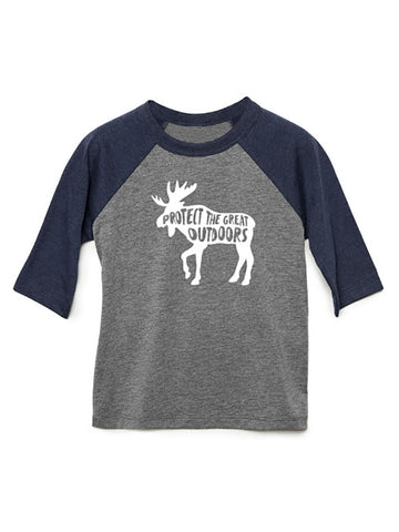 Gravity Outdoor Co. Toddler 3/4 Sleeve Raglan Baseball Tee