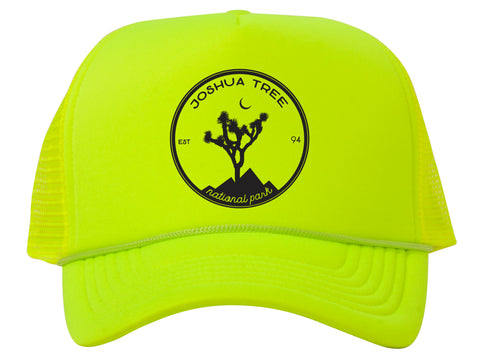 Joshua Tree Patch Adjustable Mesh Trucker Hat w/ Rope Brim