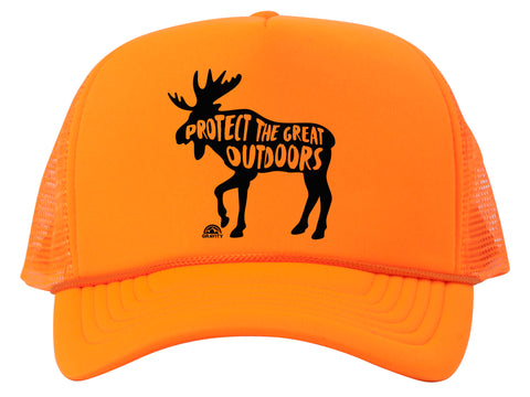 Protect the Great Outdoors Moose Patch Trucker Hat w/ Rope Brim
