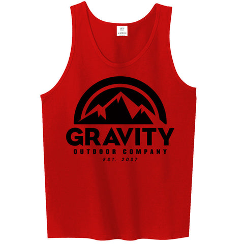 Mens Gravity Outdoor Co. Ultra Cotton Tank Top - Black Logo
