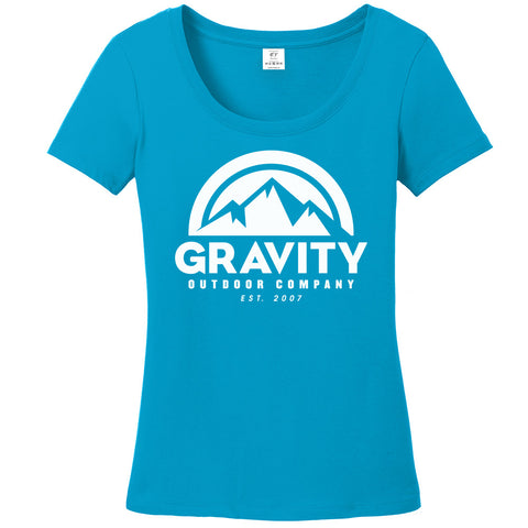 Womens Gravity Outdoor Co. Short-Sleeve T-Shirt