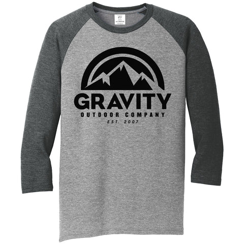 Mens Gravity Outdoor Co. 3/4-Sleeve Raglan Shirt