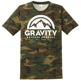 Gravity Outdoor Co. Mens Camo Crew T-Shirt