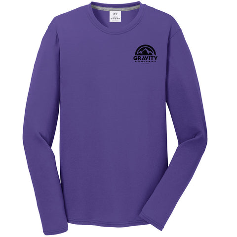 Gravity Outdoor Co. Performance Long Sleeve Shirt - Black Logo
