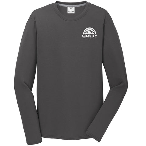 Gravity Outdoor Co. Performance Long Sleeve Shirt - White Logo