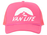 Van Life Adjustable Mesh Trucker Hat w/ Rope Brim
