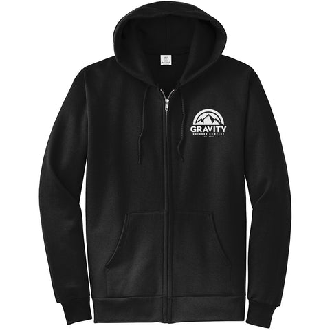 Gravity Outdoor Co. Zip-Up Hoodie - White Logo