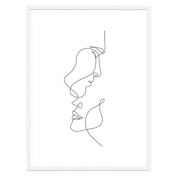 Lovers Line Drawing Print