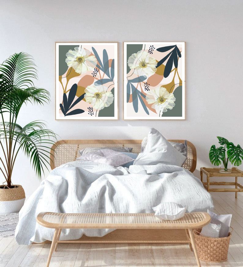 Abstract Foliage Set of 2