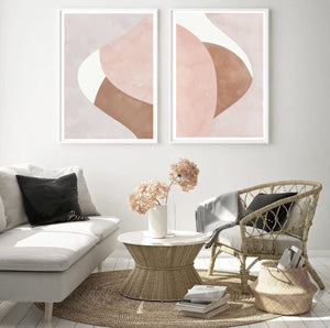 Blush Abstract Set of 2