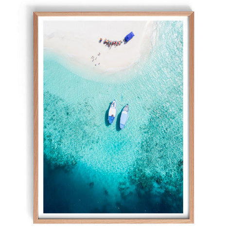 Aerial Boats Photography Print