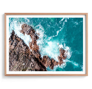 Aerial Rockface Photography Print