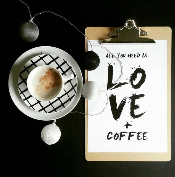 All You Need is Love and Coffee Print