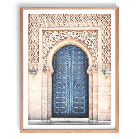 Blue Moroccan Doorway Print