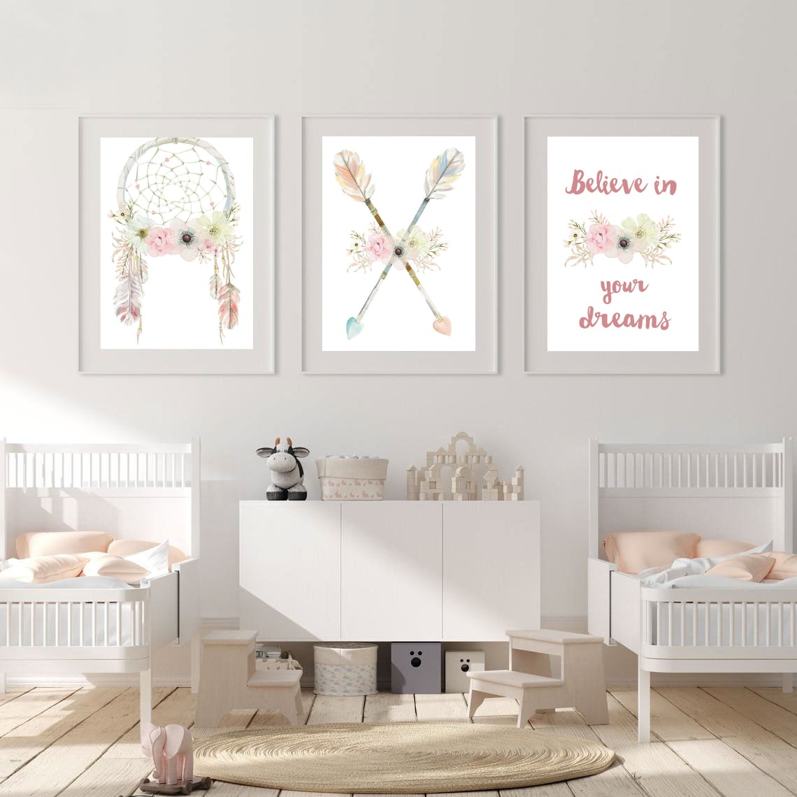 Boho Dreamcatcher Trio Prints - Set of 3