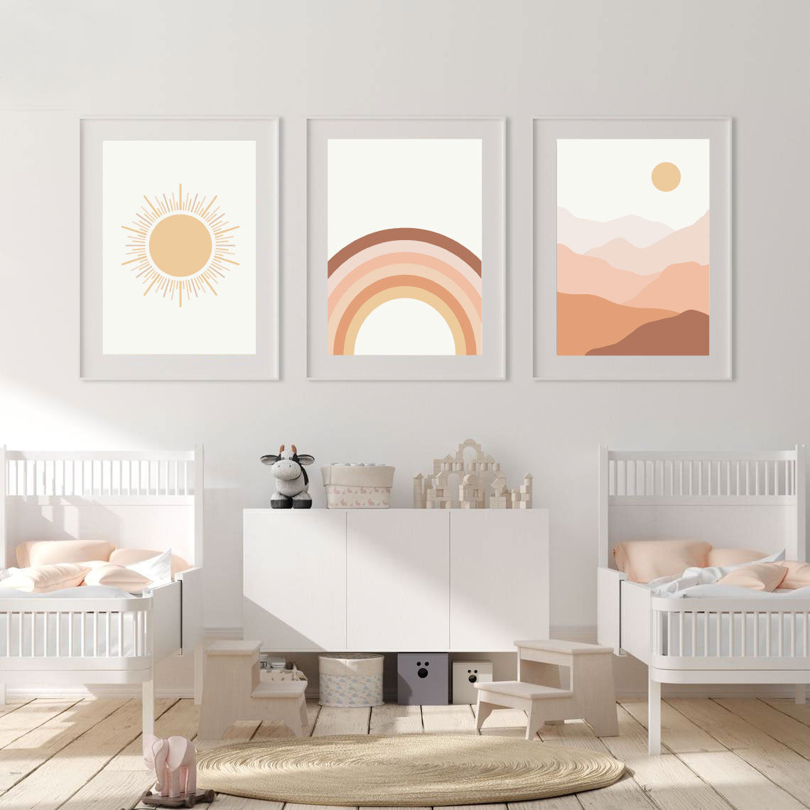 Boho Nursery Trio Prints - Set of 3