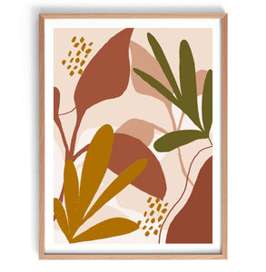 Boho Plants Original Illustration Print
