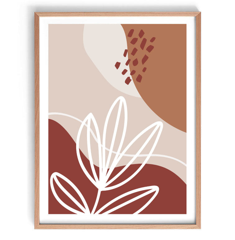 Earthy Abstract Original Illustration Print