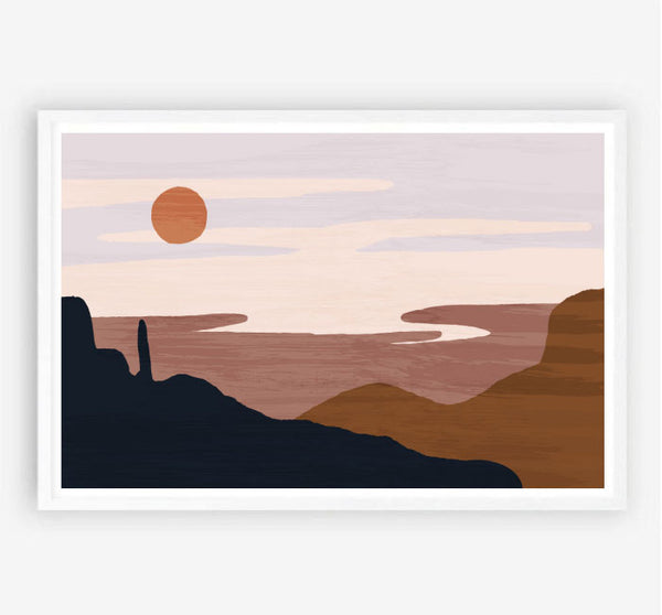 Desert Sun Original Illustration Print