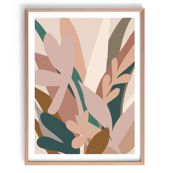 Garden Blooms Original Illustration Print