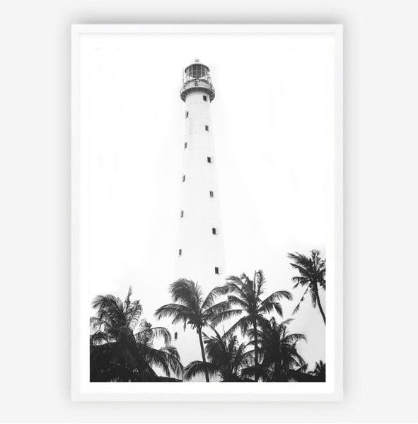 Lighthouse Palms Print