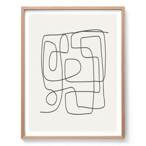 Minimal Abstract Line Drawing Print