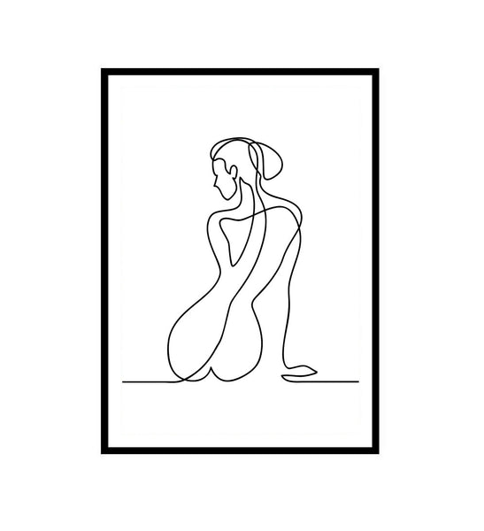 Abstract Nude Line Drawing Print