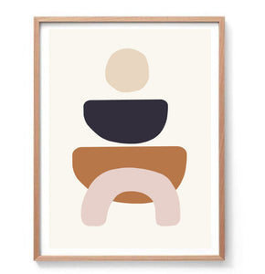 Minimal Abstract Shapes I Print
