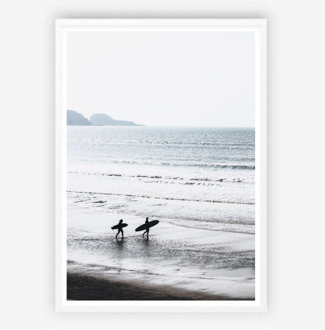 Morning Surfers Print