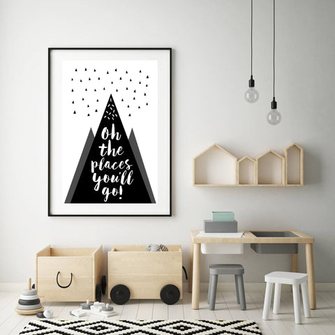 Oh The Places You'll Go Mountain Print