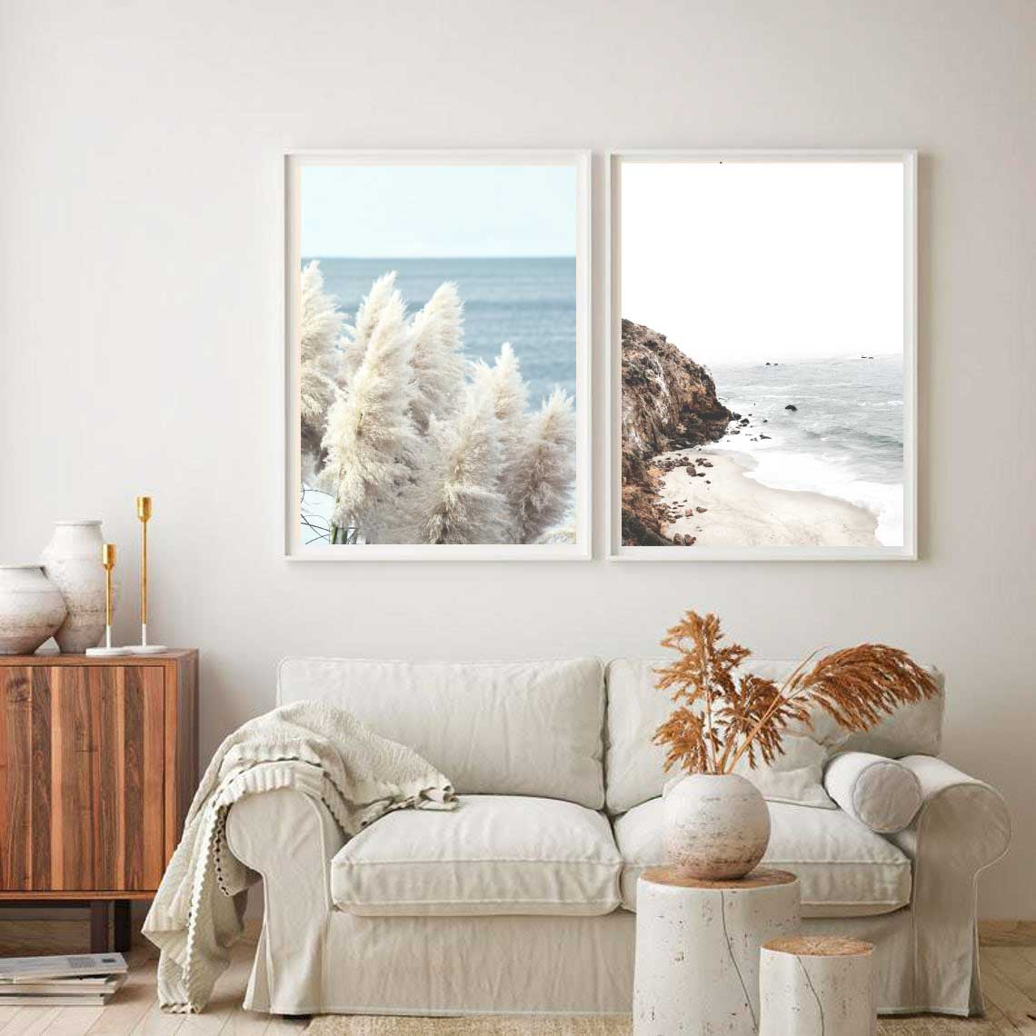 Sea Cliffs+ Pampas by the Sea Set of 2