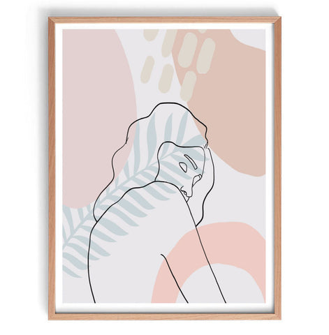 Pastel Abstract Figure Print
